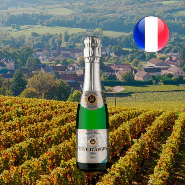 Vin Mousseux Veuve D´Argent Blanc Des Blancs Brut 200ml - Oferta