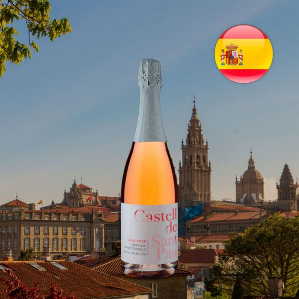 Espumante Cava Maset Castell de Sant Pau Brut Rosé - Oferta