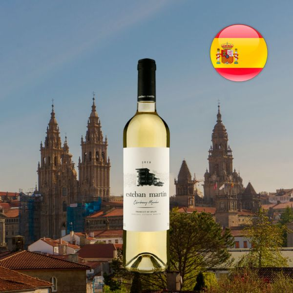 Esteban Martín D.O.P. Cariñena Chardonnay Macabeo Blanco 2019 - Oferta
