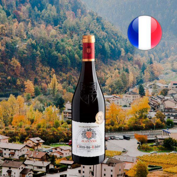 Le Grand Bâtisseur Jean XXII Côtes du Rhône AOC 2019 - Oferta